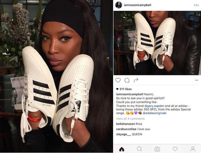 La torpeza de Naomi Campbell lastra a adidas