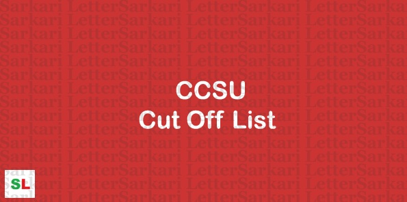 CCSU Cut Off List 2019