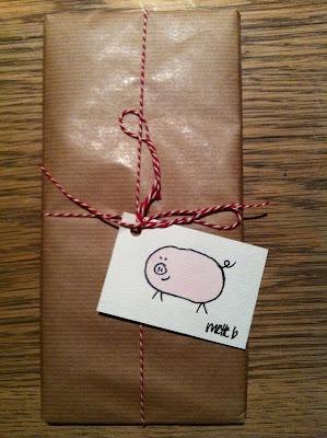 sende en pakke etiket