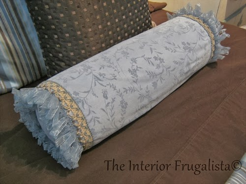 Guest room makeover DIY cushion bolster