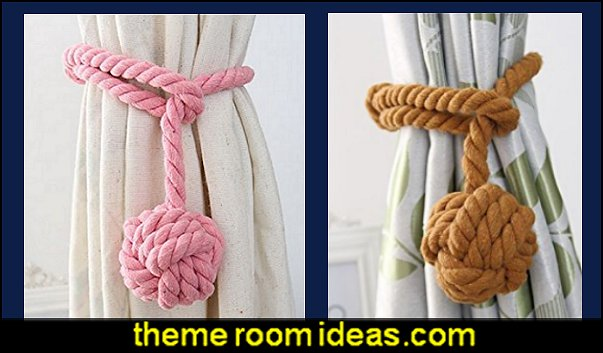 Curtain Rope Cord Tie Backs   nautical baby bedroom decorating ideas - nautical nursery decor - nautical baby room accessories - nautical nursery bedding - girls nautical nursery - boys nautical nursery - nautical rugs - anchor nursery decor - ship wheel decor - nautical nursery wall decals