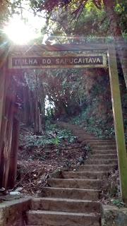 Trilha ecológica no litoral sul de São Paulo