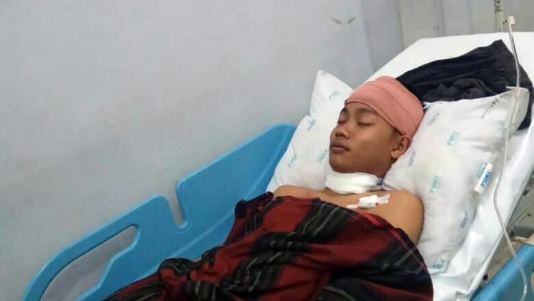 Ditikam Saat Lampu Padam, Siswa SUPM Negeri Bone dilarikan ke RSUD Tenriawaru Bone