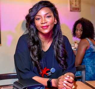 Photos of star actress Genevieve Nnaji at an event in Lagos last night