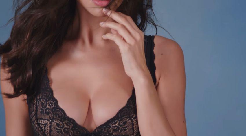 Modella Intimissimi pubblicità Nuova bralette con modella con Foto - Aprile 2017