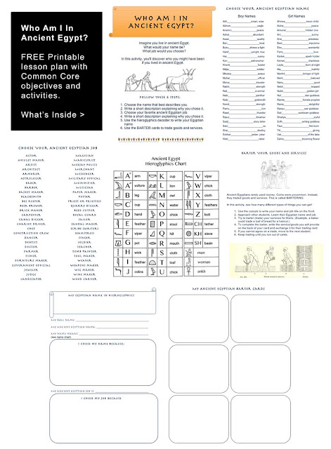 Ancient Egypt Worksheet Free Lesson Plan Kids Ancient Egypt