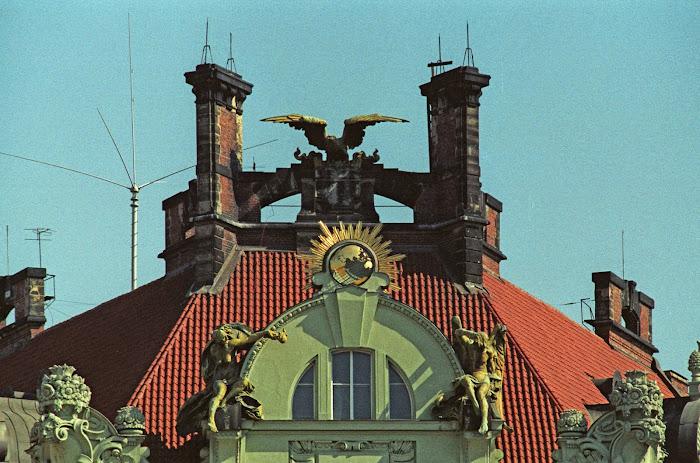 Prague, quai Gottwalddovo, quai Masarykovo, Goethe-Institut, © L. Gigout, 1990