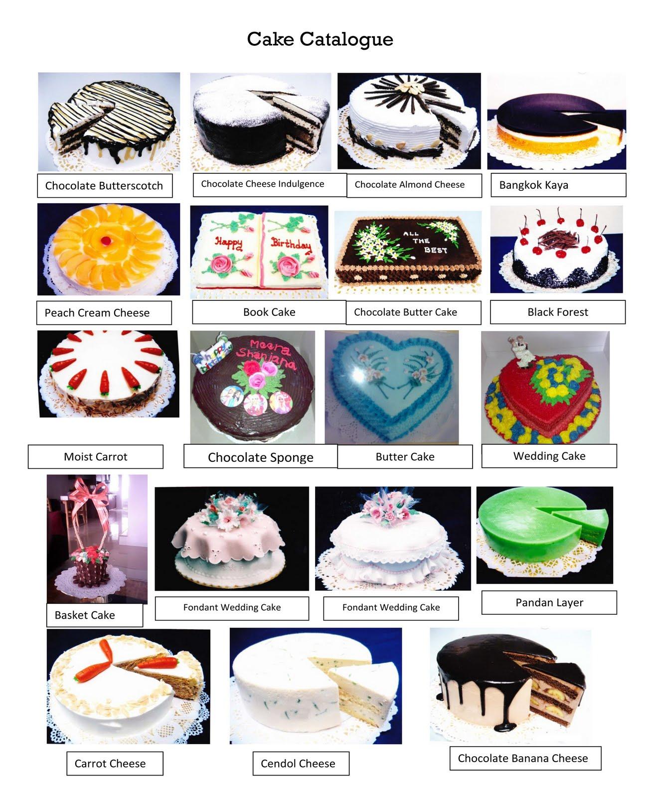 Shanti S Homemade Cakes Cake Catalogue