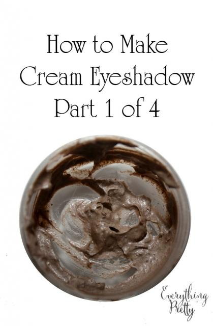 How to Make Cream Eyeshadow with Lotion Part 1
