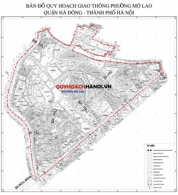 Bản đồ quy hoạch khu đô thị Mỗ Lao Hà Đông 2018