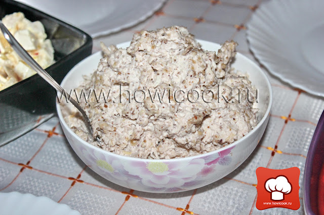 рецепт как приготовить вкусный сытный салат с курицей и орехами по-армянски