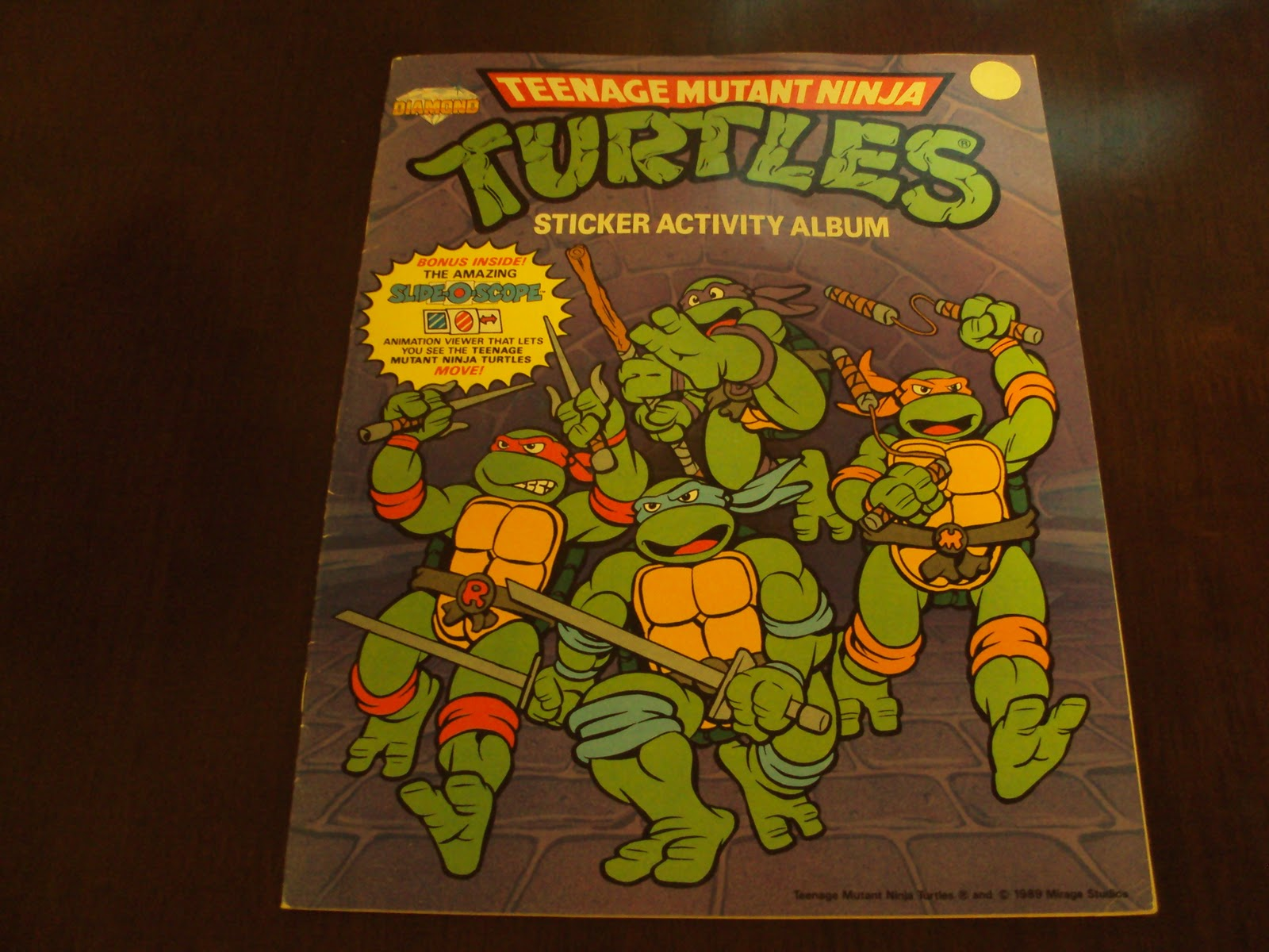 Warm Fresh Coffee I Collect Panini Stickers Diamond Teenage Mutant Ninja Turtles Sticker Activity Album 1989 100 Complete