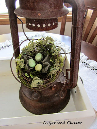 How I Create A Spring, Vintage Container Vignette