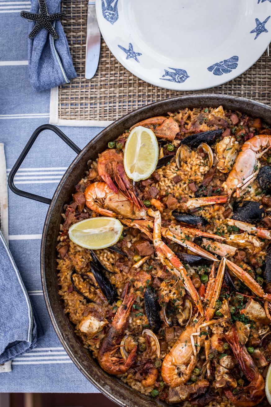 La cocina de carolina receta de paella de marisco for Como cocinar paella