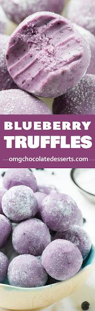 Blueberry Truffles recipe