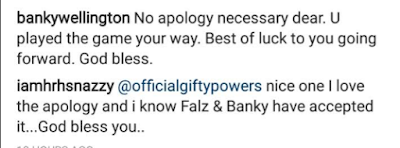 Banky W understands with Gifty