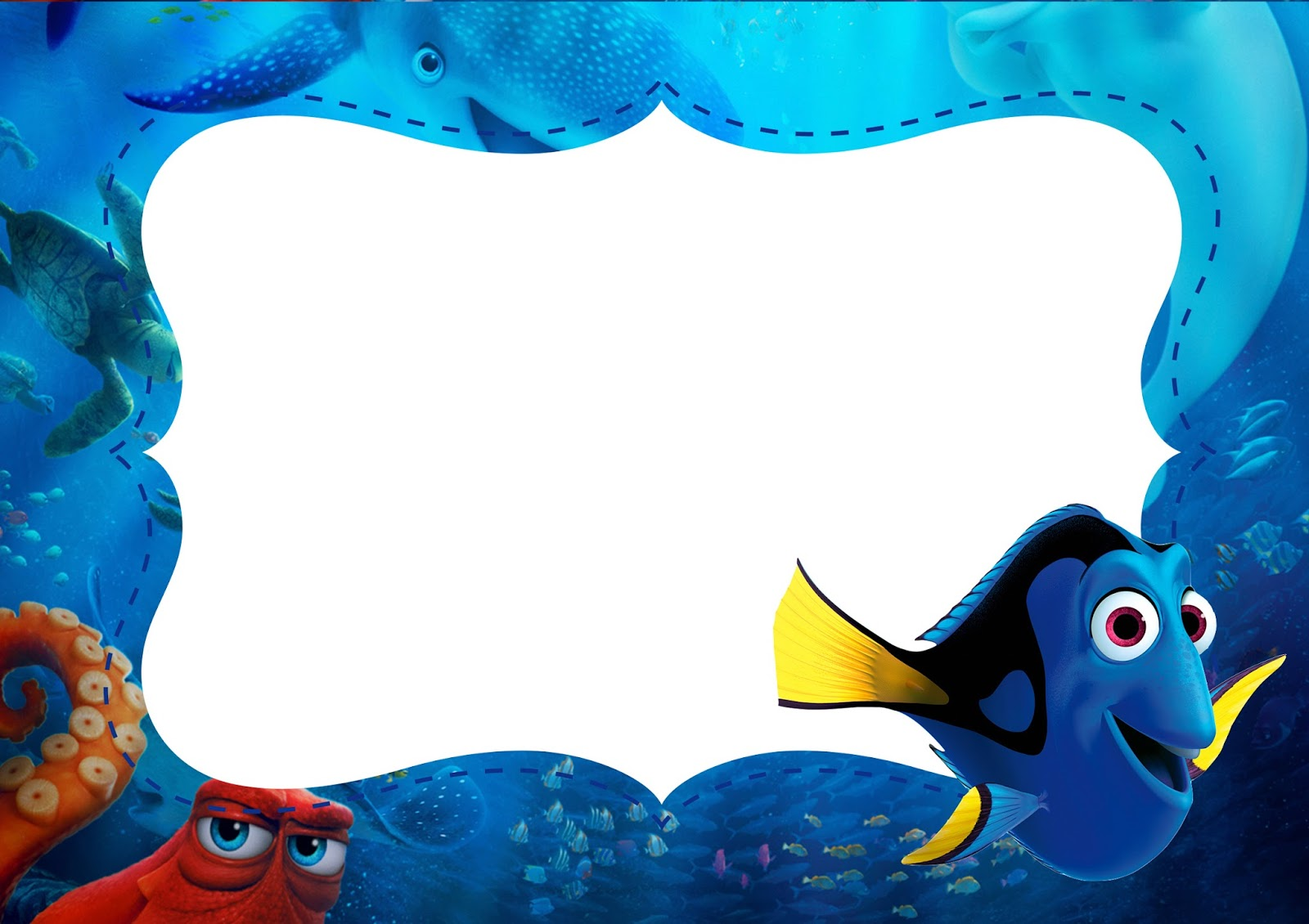 finding dory  free printable invitations