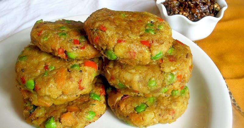 Vegetarian Samosa Cakes with Tamarind Chutney