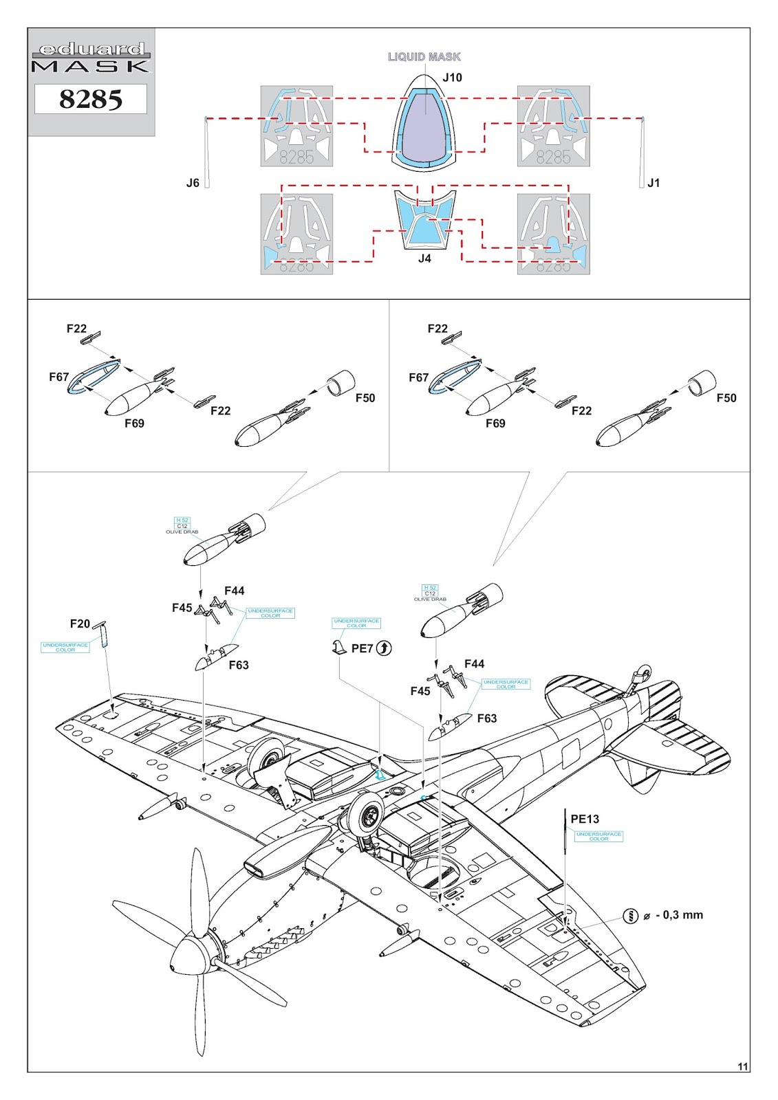 The Modelling News Build Review Jono Takes On Eduards 48th Scale F67 Wiring Diagram There Are Five Marking Choices In This Kit They Cover Some Interesting Schemes Mostly From Very Late War And Post Periods Of Service 1945 49 Which