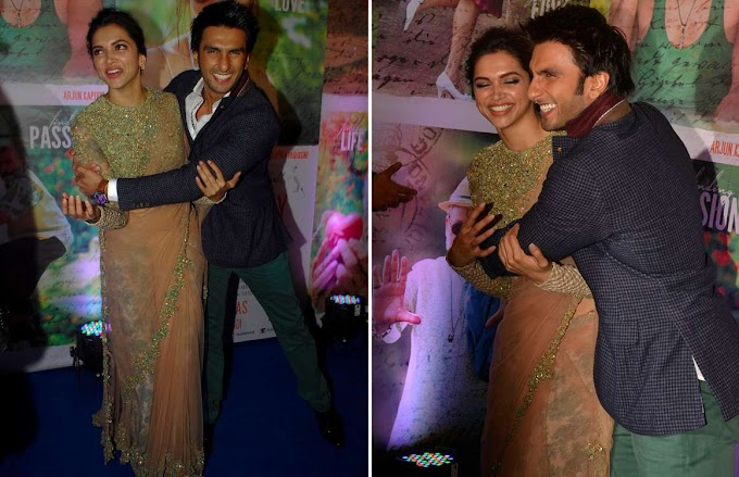 Bollywood Stars Deepika Padukone And Ranveer Singh  Latest Photos