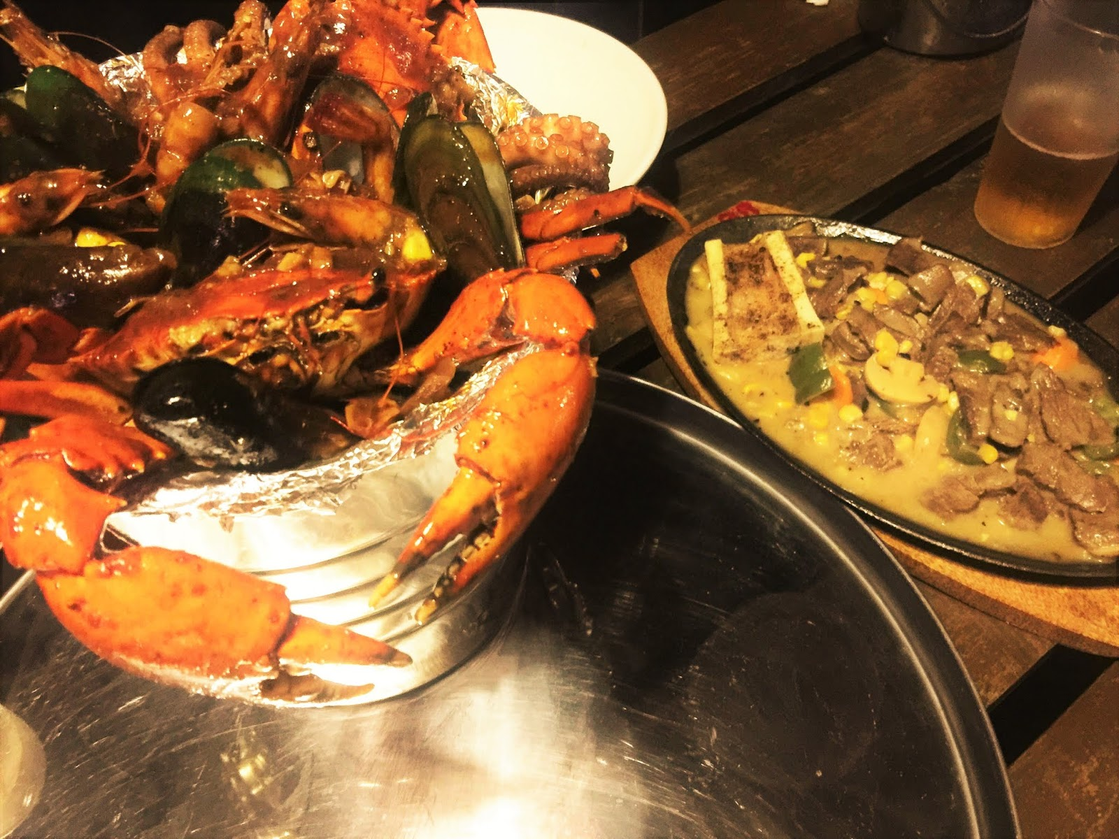 Mixed Seafood Cajun Bucket and Sizzling Bulalo in Hailey's Seafood and Barbecue in Terminal 8, Marikina - WTF Review
