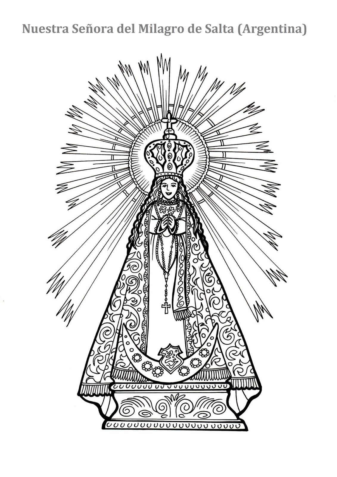 El Rincón de las Melli: DIBUJO: Nuestra Señora del Milagro ...