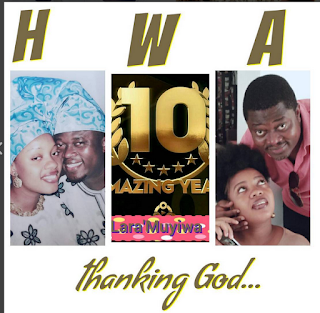 Actor Muyiwa Ademola Shares Nice Throwback Photos to Mark 10 Wedding Anniversary