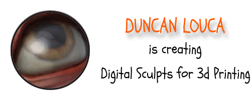 Duncan Shadow Louca is Creating Digital Sculpts for 3D Printing