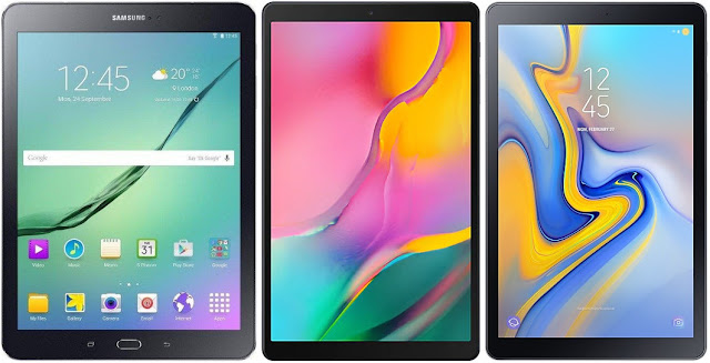 Samsung Galaxy Tab S2 9.7 VE vs Samsung Galaxy Tab A 10.1 (2019) 32 GB vs Samsung Galaxy Tab A 10.5 (2018)