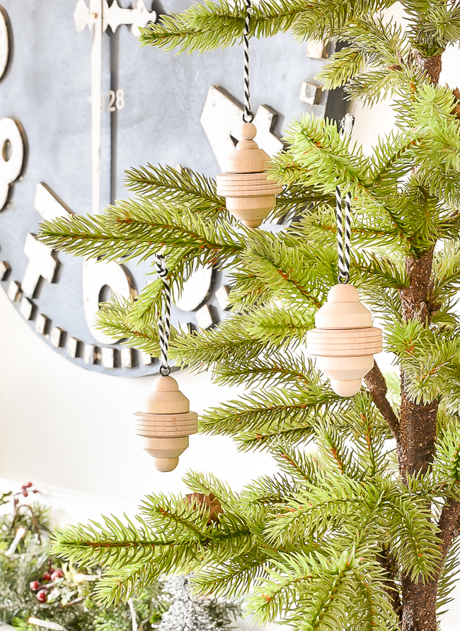 DIY Raw wood Scandi ornaments