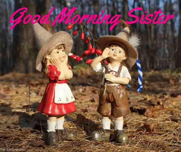 good morning sister cartoon image