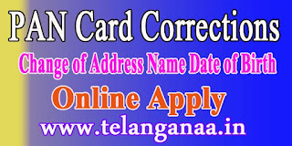 PAN Card Corrections for PAN Card Data Update for Change of Address Name Date of Birth