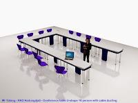 Interior Ruang Rapat - Meja Rapat Kaki Stainless Steel - Semarang