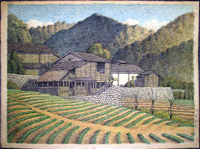 Kawase Hasui - A watercolor, a preliminary painting/sketch for a woodblock print by Hasui. What are the values and prices for Hasui's prints and watercolors in an appraisal?