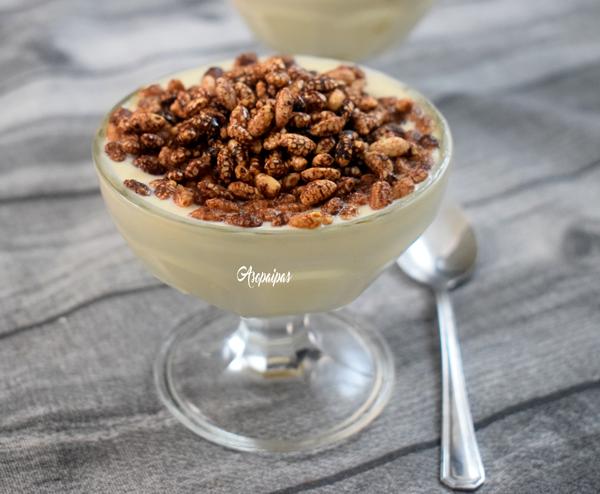 Copa de Yogur y Ricotta con Arroz Inflado Integral al Cacao y Agave