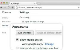 make google my homepage chrome