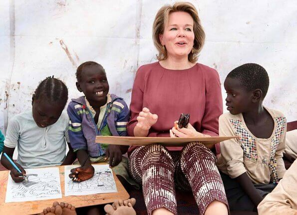 Queen Mathilde and Crown Princess Elisabeth visited Kalobeyei Primary School at Kakuma Refugee Camp
