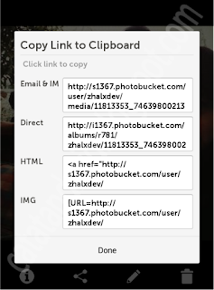 pilihan link share photo di photobucket - catatandroid