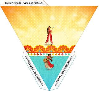 Caja con forma de pirámide de Elena de Avalor.