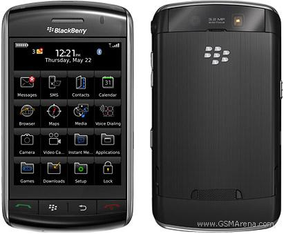 Updating status via blackberry
