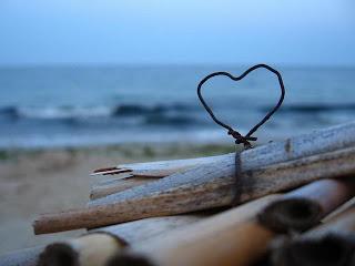 imagen corazon+playa