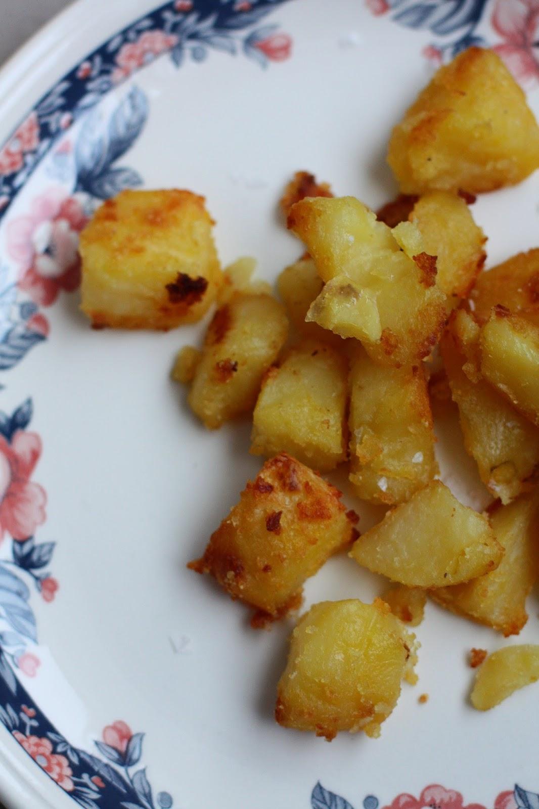 rapeat perunat hawksmoor ankanrasva paistetut perunat mallaspulla