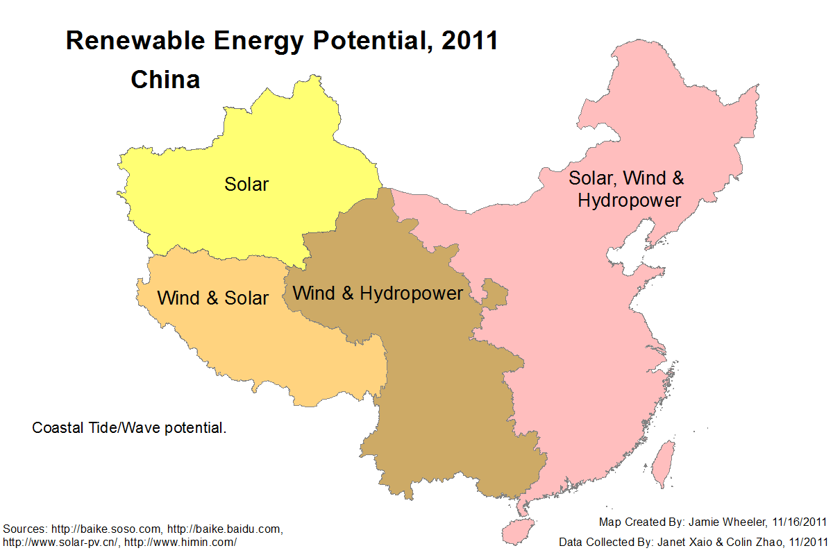 Renewable Energy Maps: China on solar design map, solar electricity map, solar output map, energy conservation map, wind energy map, la county solar map, solar potential map, passive solar map, solar cycle map, earth energy map, solar light map, forms of energy map, potential energy map, pv energy map, solar map of the world, solar cookers map, solar generation map, geothermal energy map, us solar map, solar panel diagram,