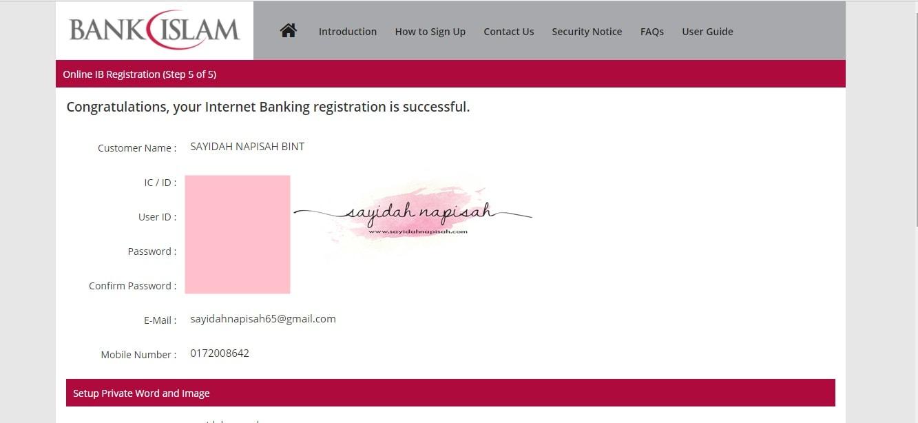 cara daftar internet banking Bank Islam secara online