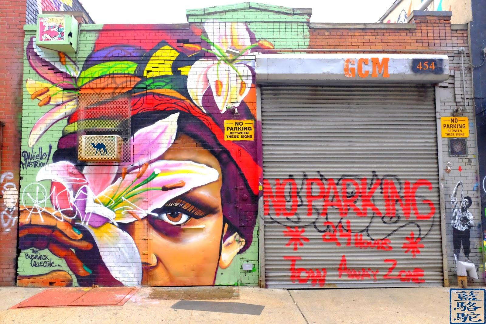 Le Chameau Bleu - Street Art de Brooklyn à Bushwick New York USA