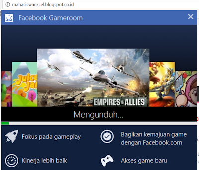 Bermain permainan Facebook dengan menggunakan Facebook Gameroom