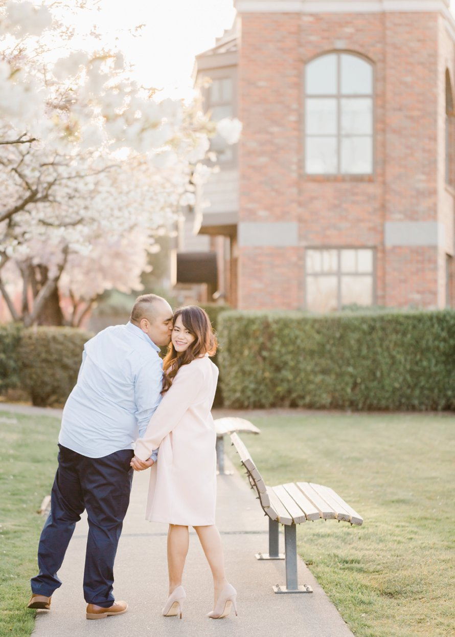 Cherry Blossom Engagement Session | Something Minted Photography