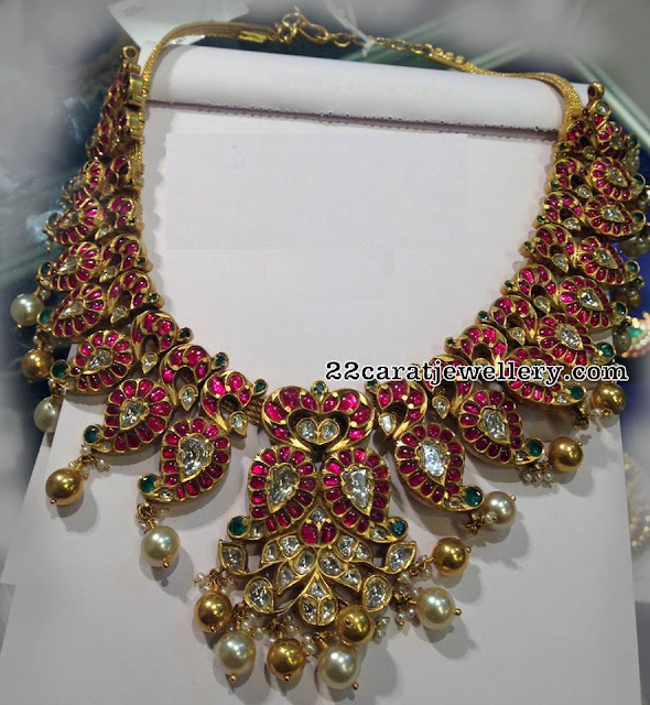 Ruby Peacock Necklace