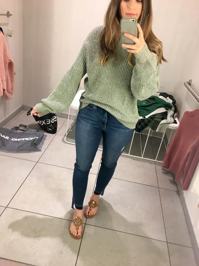 h&m glittery sweater, fall outfit 2017, amanda sumner, the girlish blog, girl(ish), sc fashion blogger
