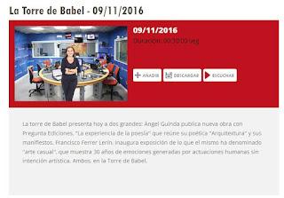 http://www.aragonradio.es/podcast/emision/la-torre-de-babel-09112016/